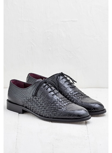 %100 Deri Bağcıklı Ayakkabı-Elle